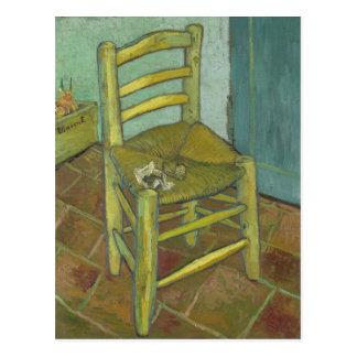 Vincent van Gogh - Van Gogh's Chair met Pijp Briefkaart