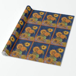 Vincent van Gogh Zes Zonnebloemen zuivert Kunst Cadeaupapier