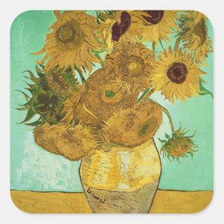Vincent van Gogh   Zonnebloemen, 1888 Vierkante Sticker