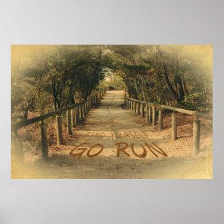 Vind me het Park Motivatie Joggers van de Looppas  Poster