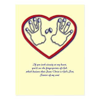 Vingerafdrukken van God - 1 Peter 5:6 - 7 Briefkaart