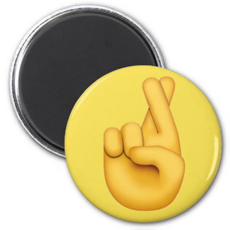 Vingers gekruiste Emoji Magneet