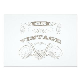 Vintage 65ste Verjaardag 12,7x17,8 Uitnodiging Kaart