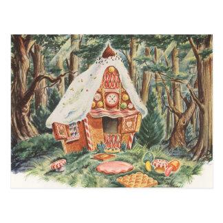 Vintage Adreswijziging, Huis Hansel en Gretel Briefkaart