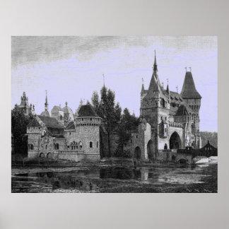 Vintage Afbeelding - Middeleeuws Kasteel Poster