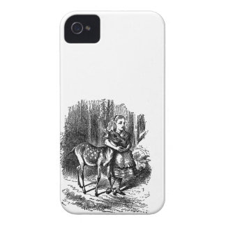 Vintage Alice in de druk van de herten fawn bambi  iPhone 4 Hoesje