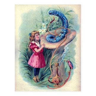 Vintage Alice in de Illustratie van het Briefkaart
