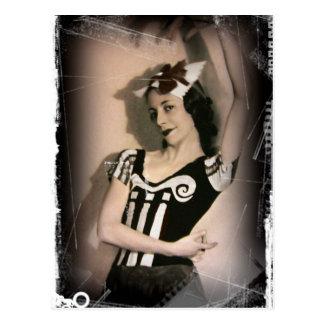 Vintage Alice in het Ballet van het Sprookjesland Briefkaart