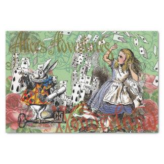 Vintage Alice in het Theekransje van de Kaarten Tissuepapier