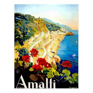 Vintage Amalfi Italië Europa Reis Briefkaart