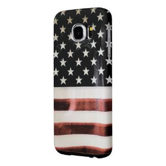 Vintage Amerikaanse het hoesjesjabloon van de Vlag Samsung Galaxy S6 Hoesje