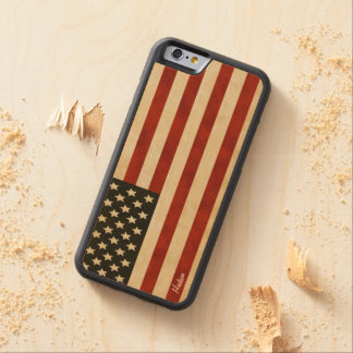 Vintage Amerikaanse iPhone 6 van de Vlag Esdoorn iPhone 6 Bumper Hoesje