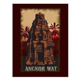 Vintage Angkor Wat Briefkaart