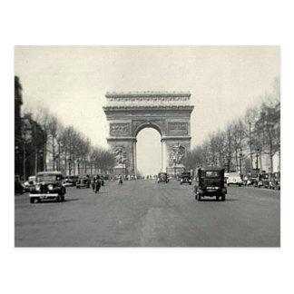 Vintage Arc DE Triomphe Frankrijk Briefkaart