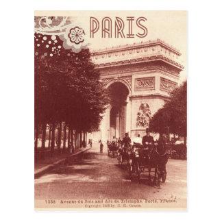 Vintage Arc DE Triomphe, Parijs, 1903 Briefkaart