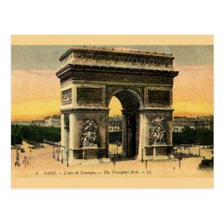 Vintage Arc DE Triomphe Postcard Briefkaart