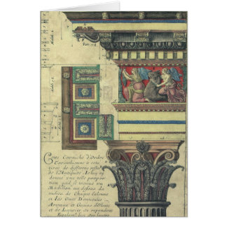 Vintage Architectuur, Kolom met het Afgietsel van Briefkaarten 0