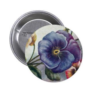 Vintage Artistieke Pansies Ronde Button 5,7 Cm