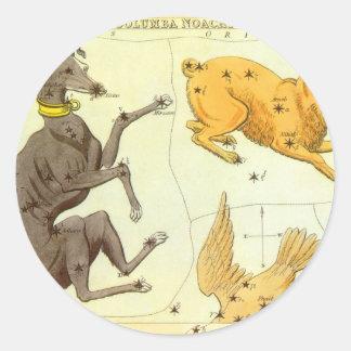Vintage Astronomie, de HemelGrafiek van de Ster Ronde Sticker