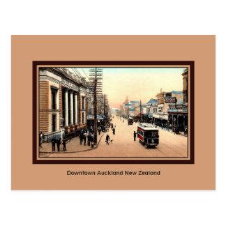 Vintage Auckland Van de binnenstad Nieuw Zeeland Briefkaart