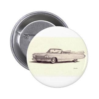 Vintage Auto: Eldorado van Cadillac (1959) Ronde Button 5,7 Cm