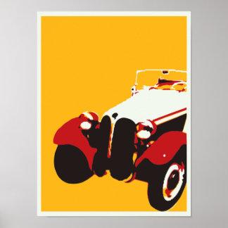 Vintage autoposter poster