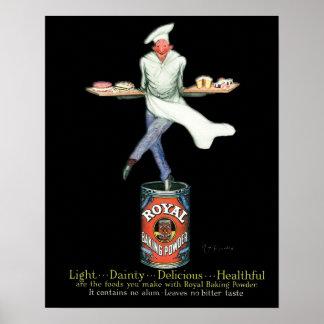 Vintage Baker Adverteren Art. Poster