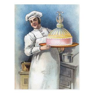 Vintage Baker Briefkaart