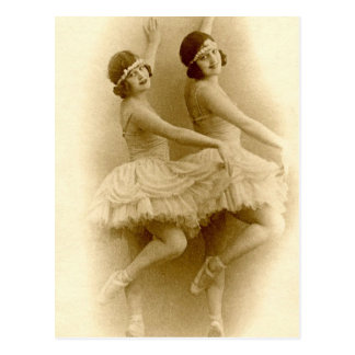 Vintage Ballerina's Briefkaart