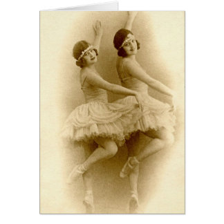 Vintage Ballerina's Briefkaarten 0
