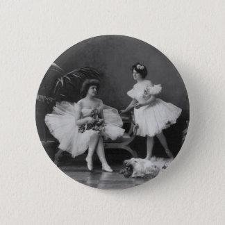 Vintage Ballerina's na de Encore Ronde Button 5,7 Cm