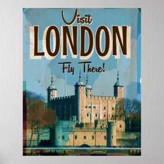 Vintage Bezoek Londen - Vlieg daar Poster