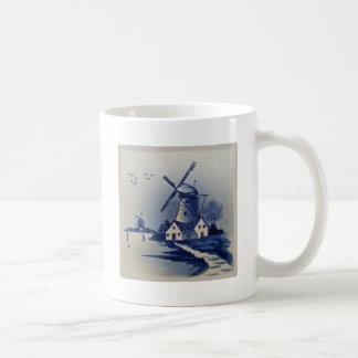 Vintage Blauw en Wit Delft Koffiemok
