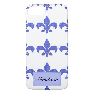 Vintage Blauwe Fleur DE lis iPhone 8/7 Hoesje
