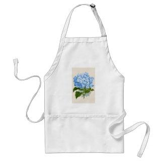 Vintage Blauwe Hydrangea hortensia Standaard Schort