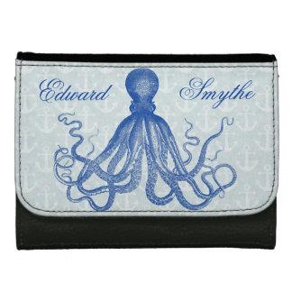 Vintage Blauwe Octopus met Gepersonaliseerde