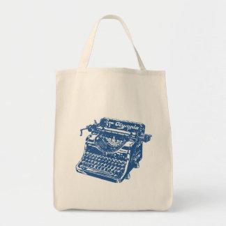 Vintage Blauwe Schrijfmachine Draagtas