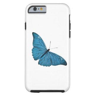 Vintage Blauwe Vlinder Aangepaste Sjabloon Morpho Tough iPhone 6 Hoesje