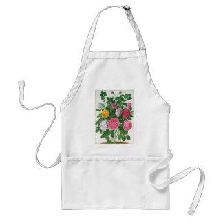 Vintage Bloeiende Bloemen, de Rozen van de Tuin Standaard Schort