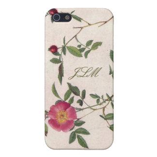 vintage bloem girly witte bloemeniPhone 5 Hoesje iPhone 5 Cases