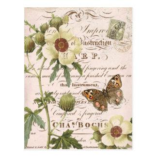 Vintage Bloemen Botanisch briefkaart