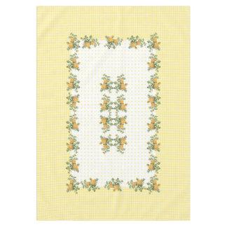 """Vintage bloemen, geruit &dots tafelkleed 60 """" x84"""