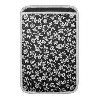 Vintage Bloemen het sleeve van de Lucht van B&W MacBook Beschermhoezen
