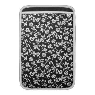 Vintage Bloemen het sleeve van de Lucht van B&W MacBook Air Beschermhoes