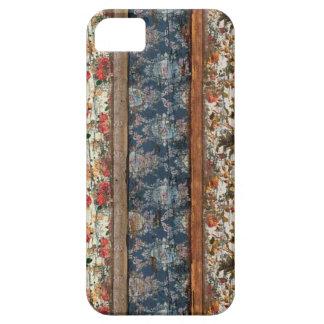Vintage bloemen houten iphone 5 hoesje