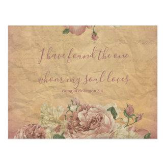 Vintage Bloemen sparen de Datum Briefkaart