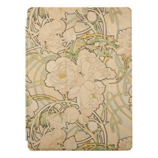 Vintage BloemenAlphonse Mucha Peonies GalleryHD iPad Pro Cover