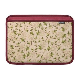 Vintage BloemenBehang MacBook Sleeve