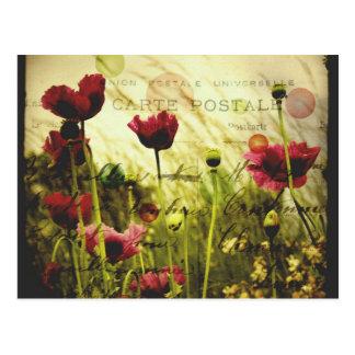 Vintage bloemenBriefkaart