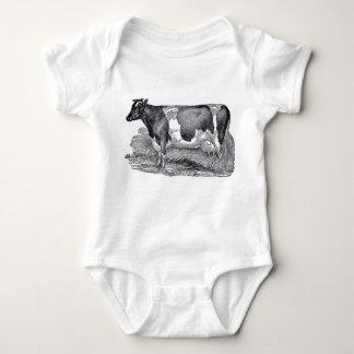 Vintage Bodysuit van het Baby van de Koe van de